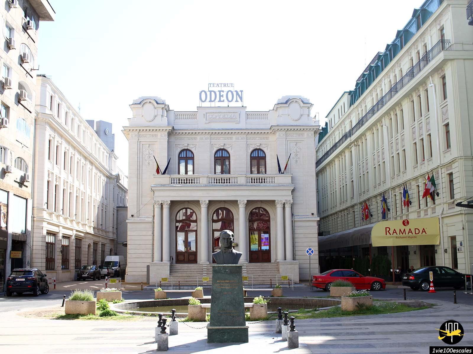 monument historique theatre avenue Calea Victoriei bucarest roumanie