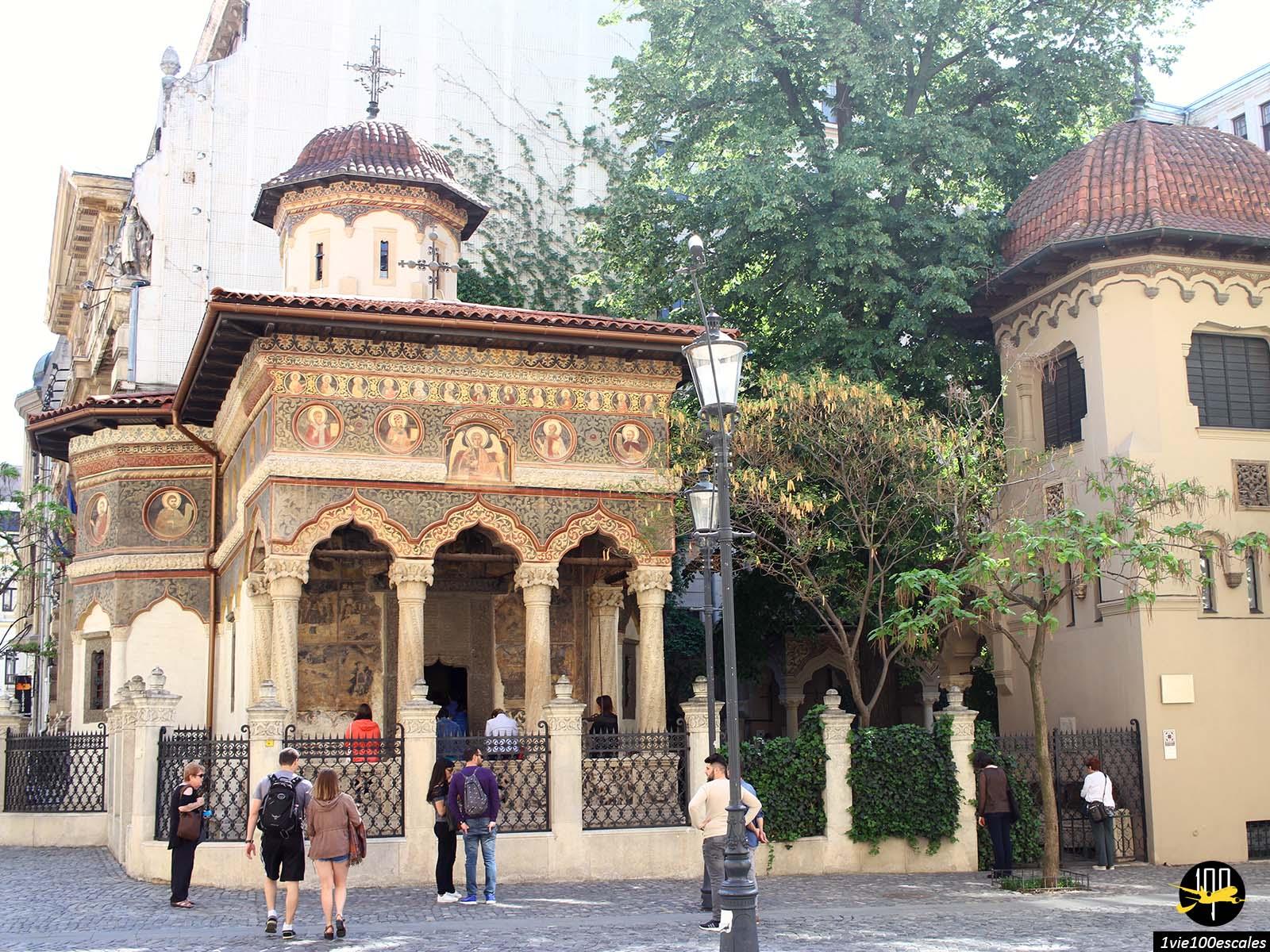 monument historique vieille ville eglise bucarest roumanie