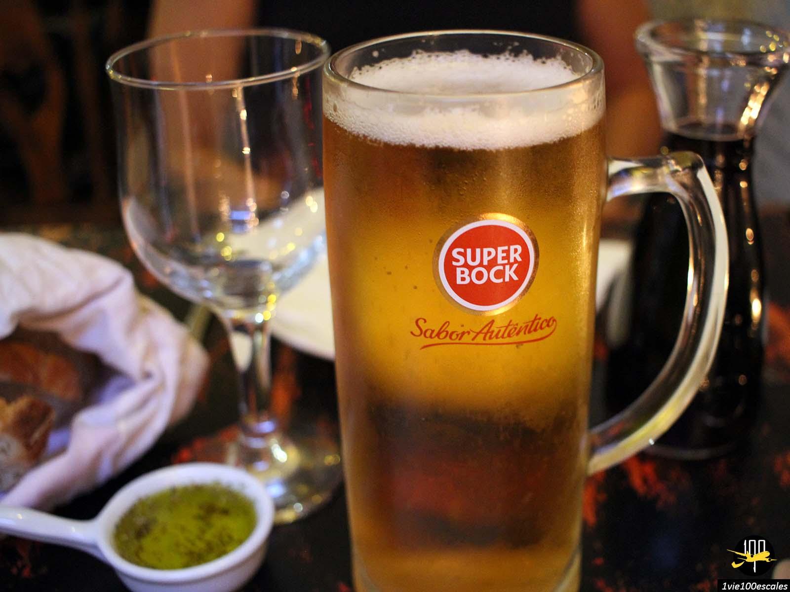 La célèbre bière SuperBock de Lisbonne au Portugal
