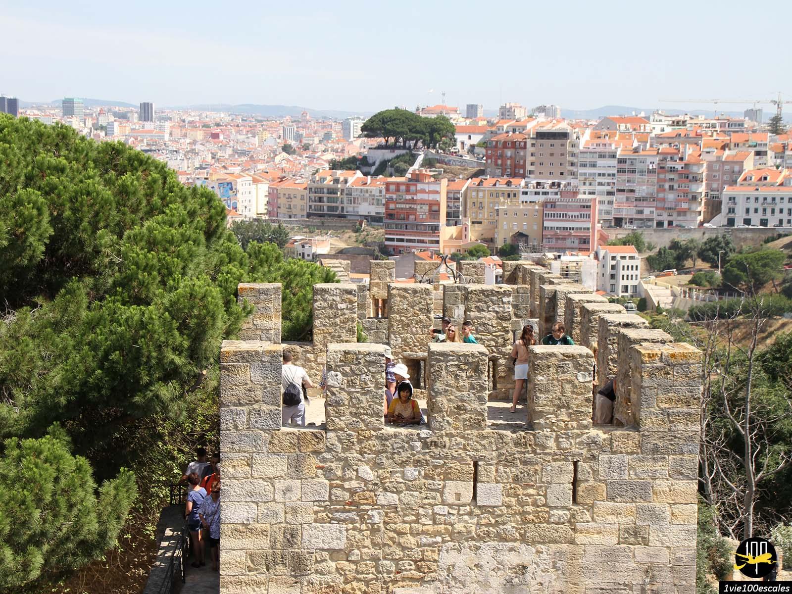 La vue sur Lisbonne depuis le Château Saint-Georges