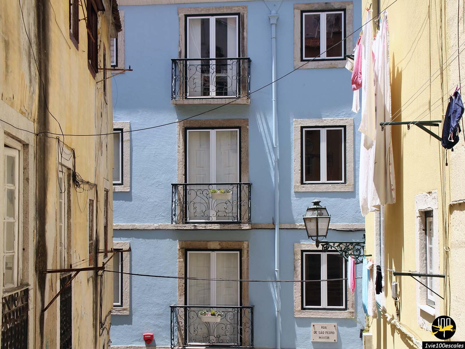 Les immeubles du quartier Bairro Alto de Lisbonne