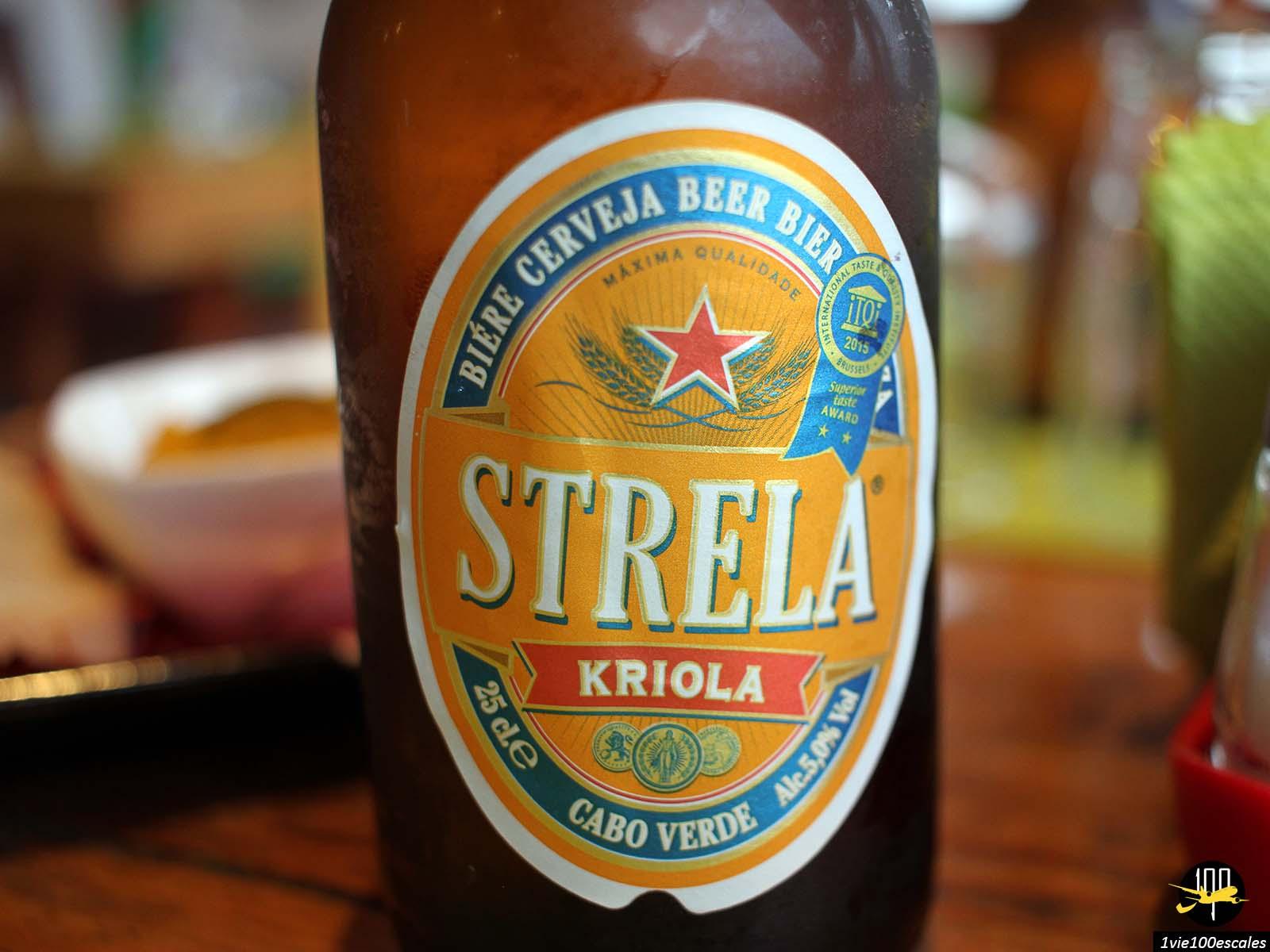 La Strela Kriola Cabo Verde la bière locale du Cap-Vert