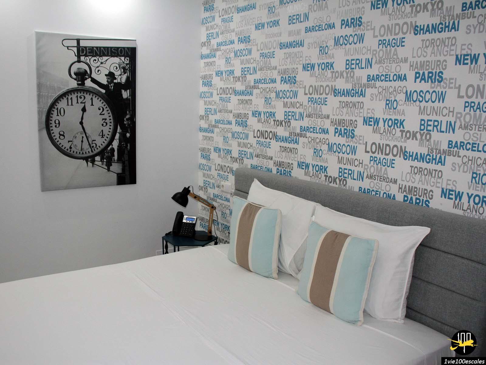 La chambre du Prassa 3 Boutique Hotel à Mindelo sur l'île de Sao Vicente