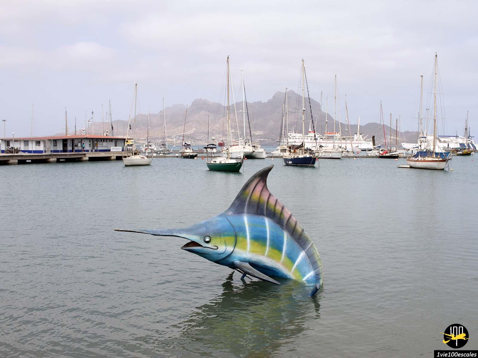 Le port de Mindelo sur l'île de Sao Vicente au Cap-Vert