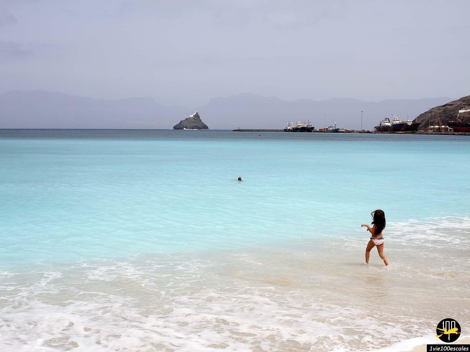 La Praia da Laginha de Mindelo sur l'île de Sao Vicente