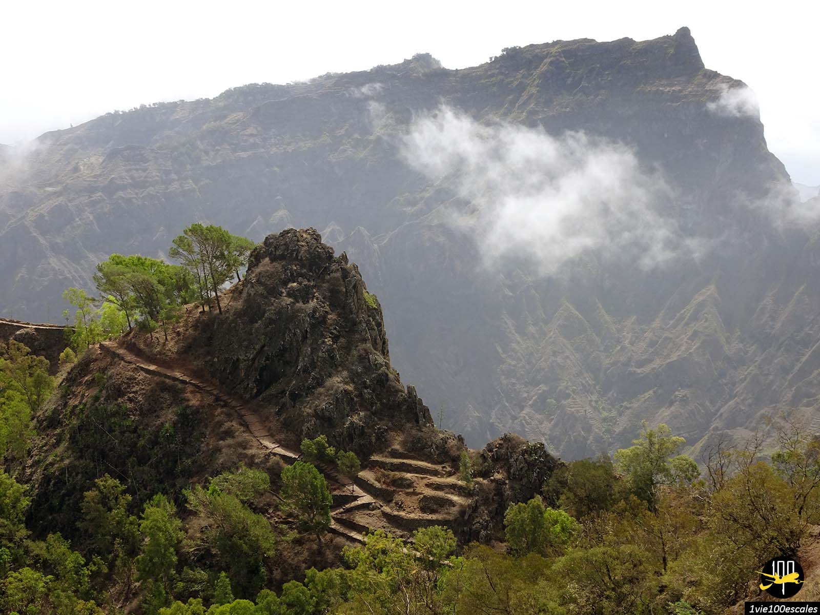 La vue sur les montagnes de l'ile de Santo Antao