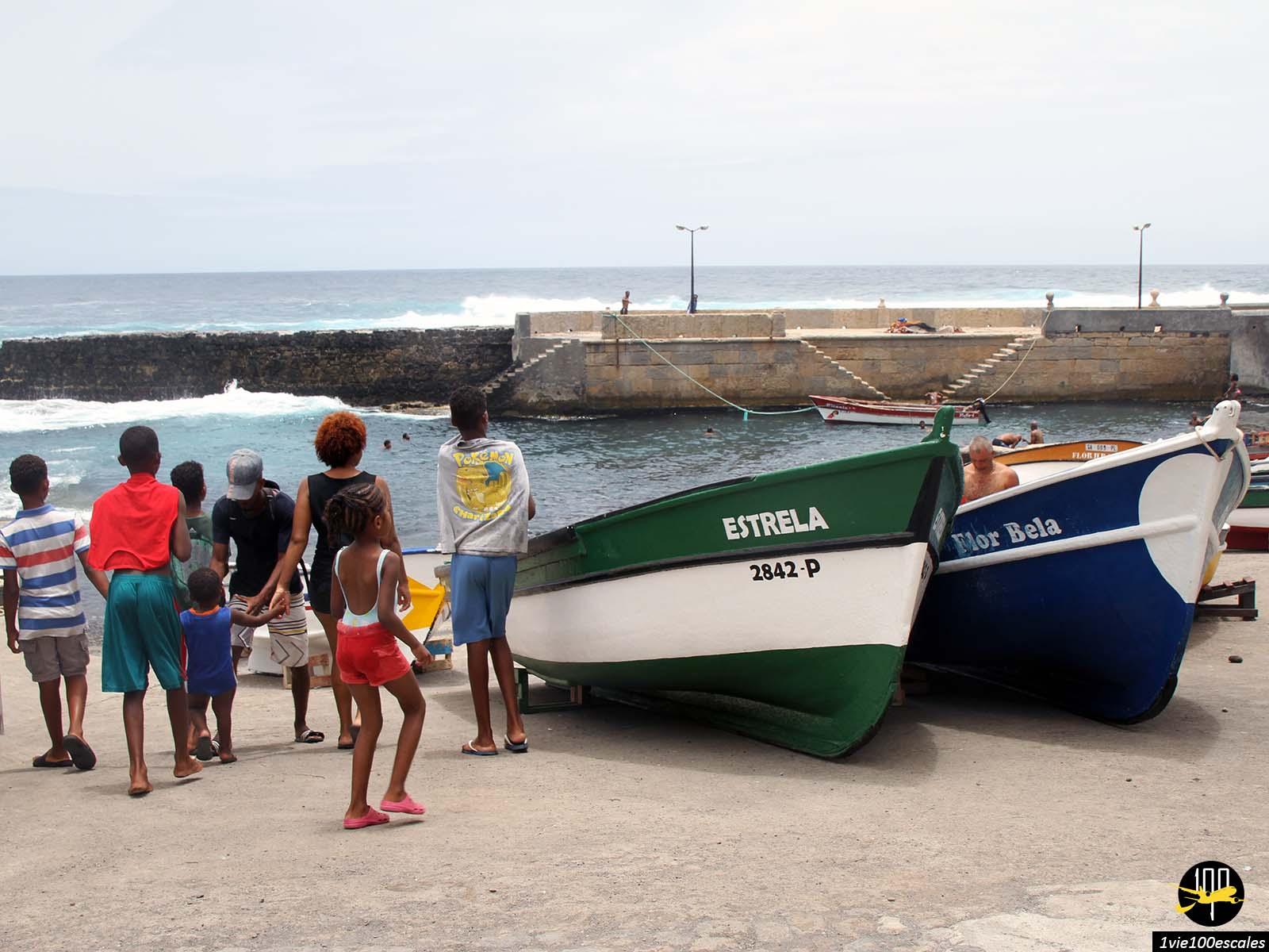 Le petit port de Ribeira Grande à Santo Antao