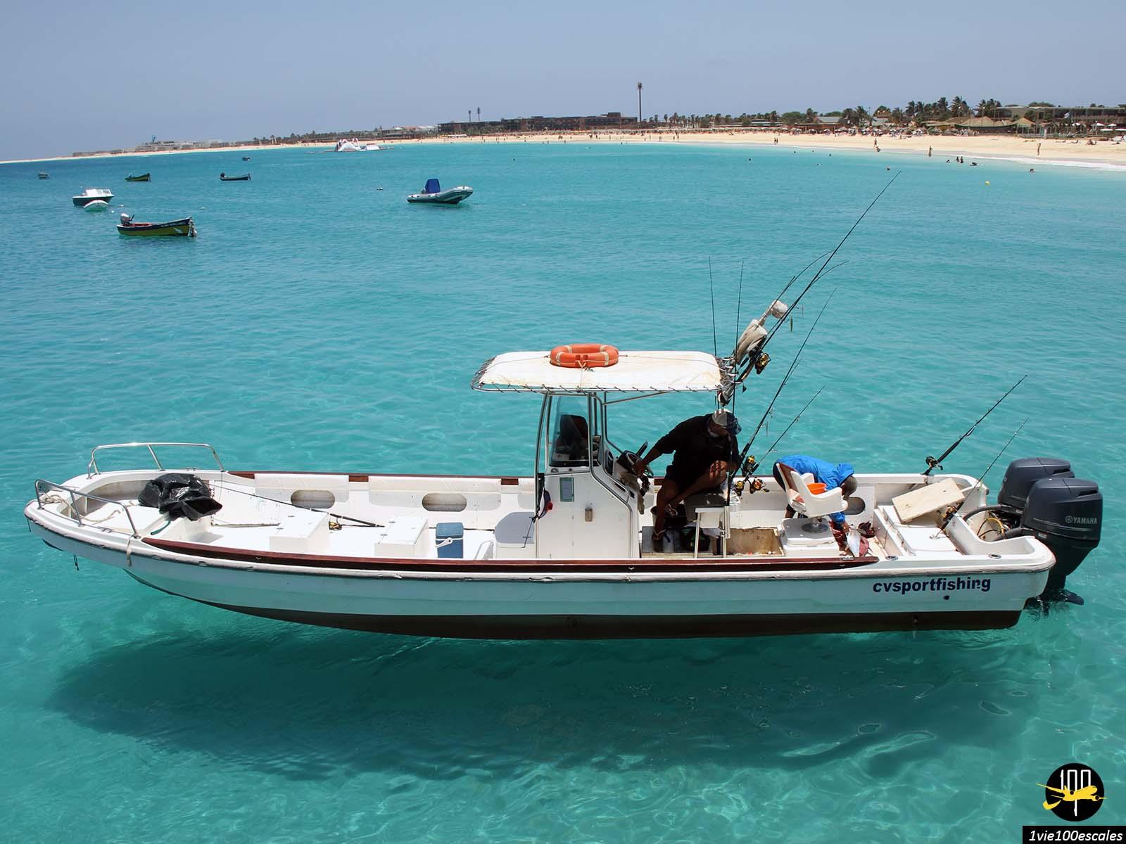 Une excursion pour pêcher à Santa Maria sur l'île de Sal
