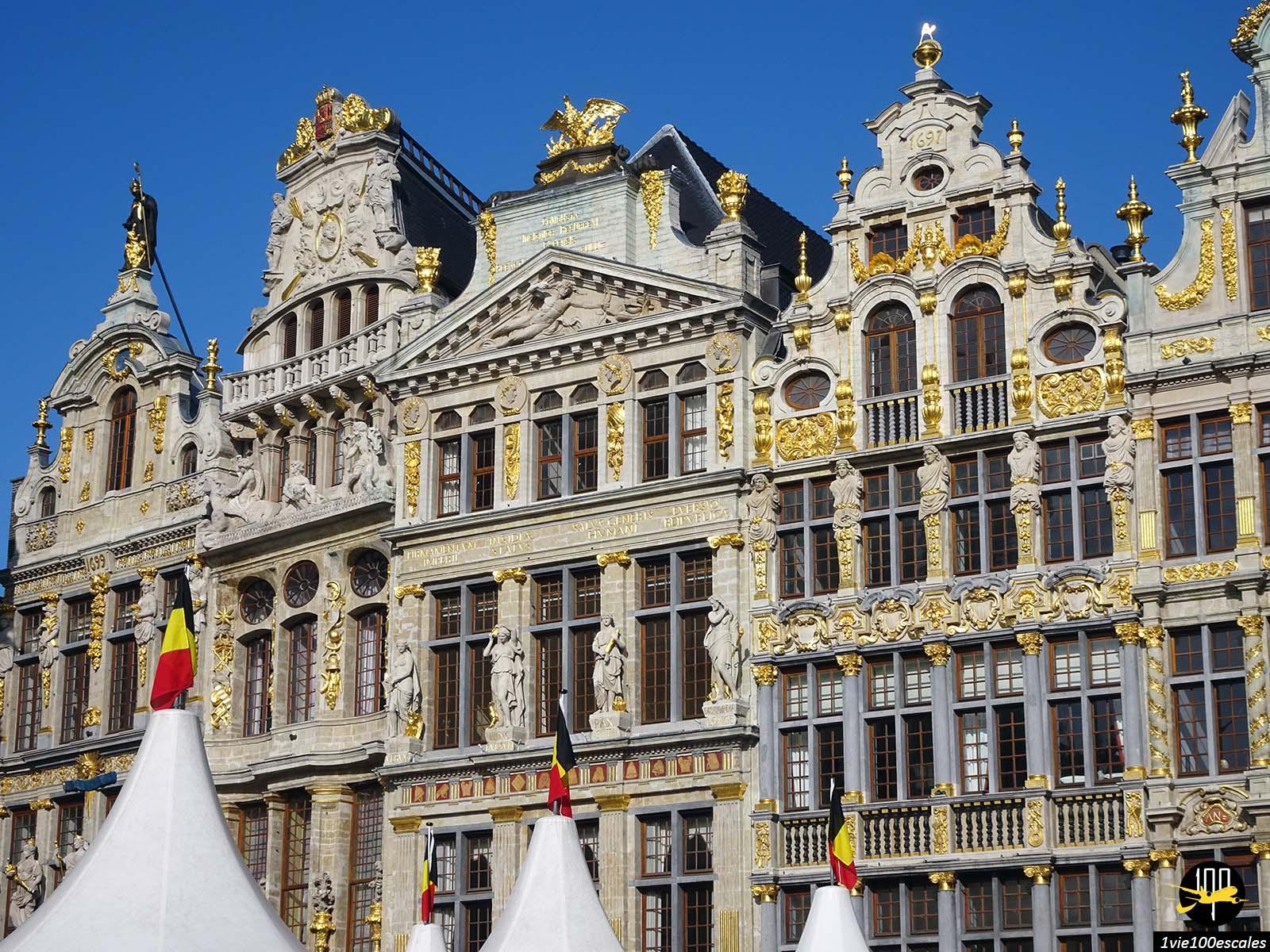 Les maisons dorées de la grand-place de Bruxelles