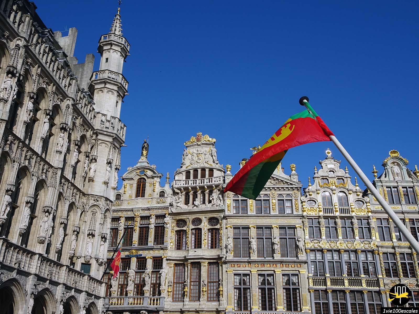 La superbe architecture des maisons de la Grand-Place de Bruxelles