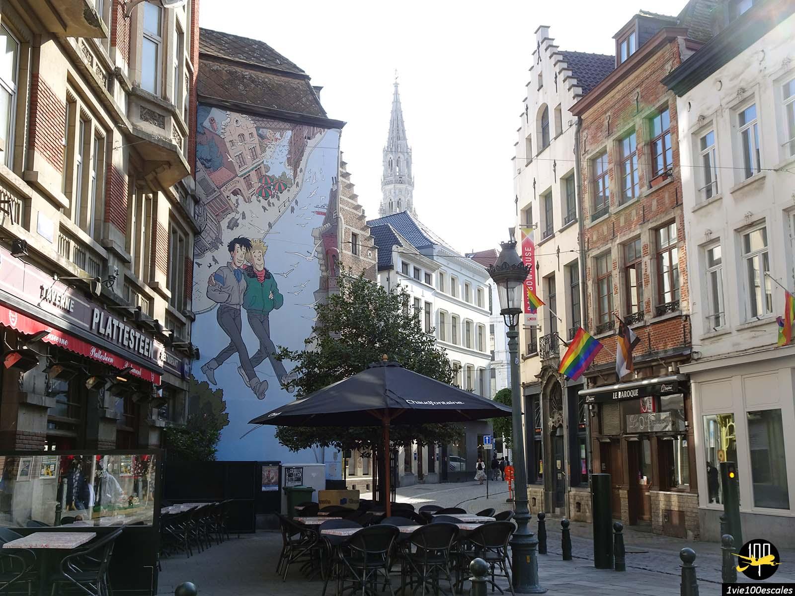 Le parcours BD dans le centre ville de Bruxelles