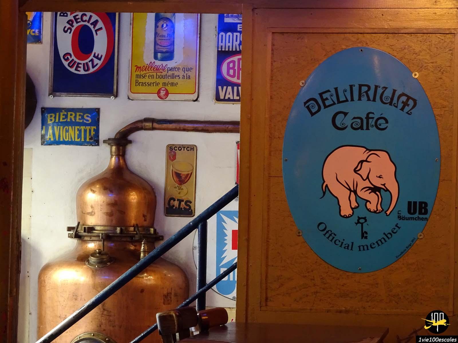 Le fameux delirium café et son record du monde en variétés de bières