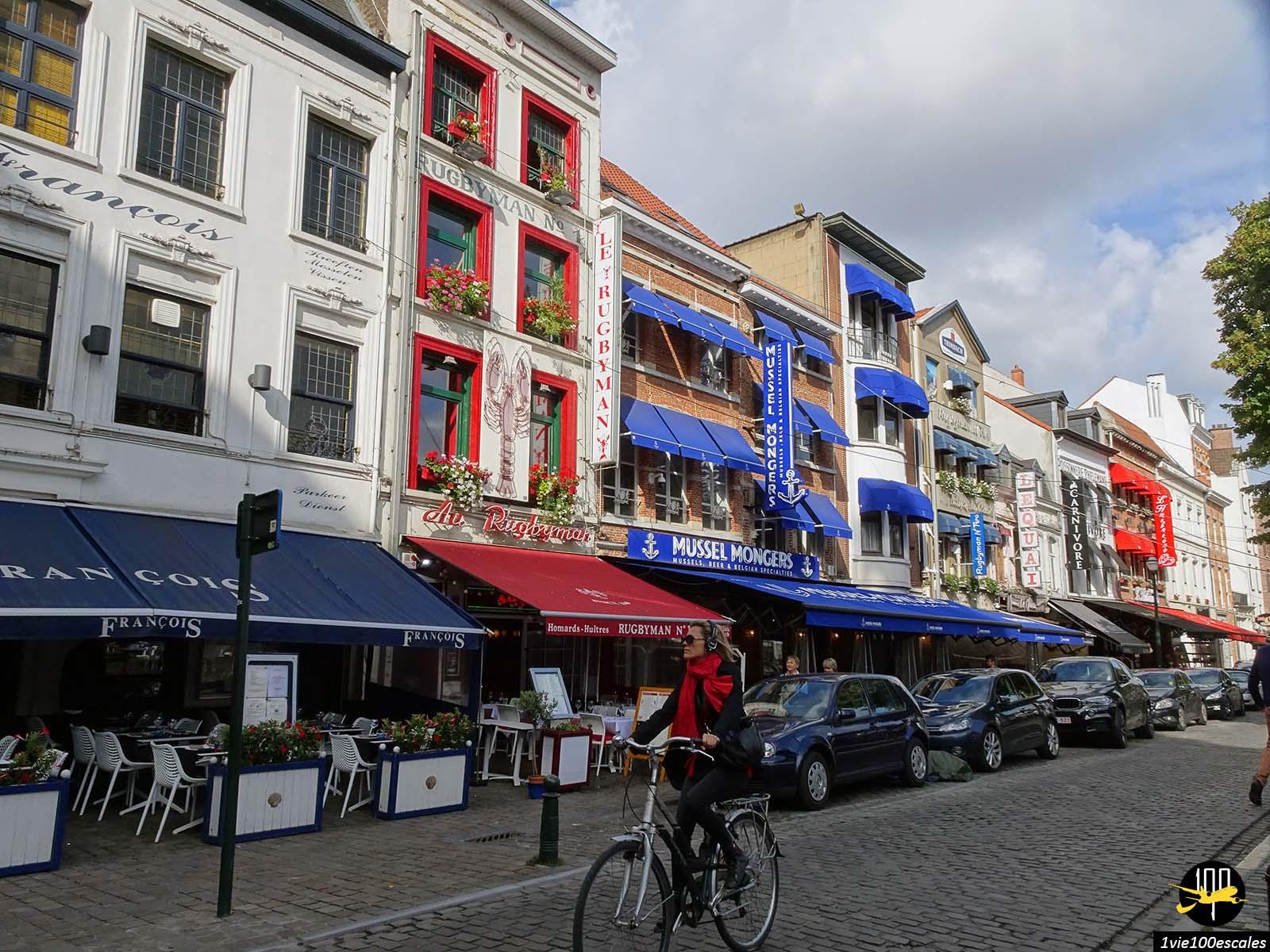 Le quartier Sainte Catherine de Bruxelles avec ses restaurants de fruits de mer