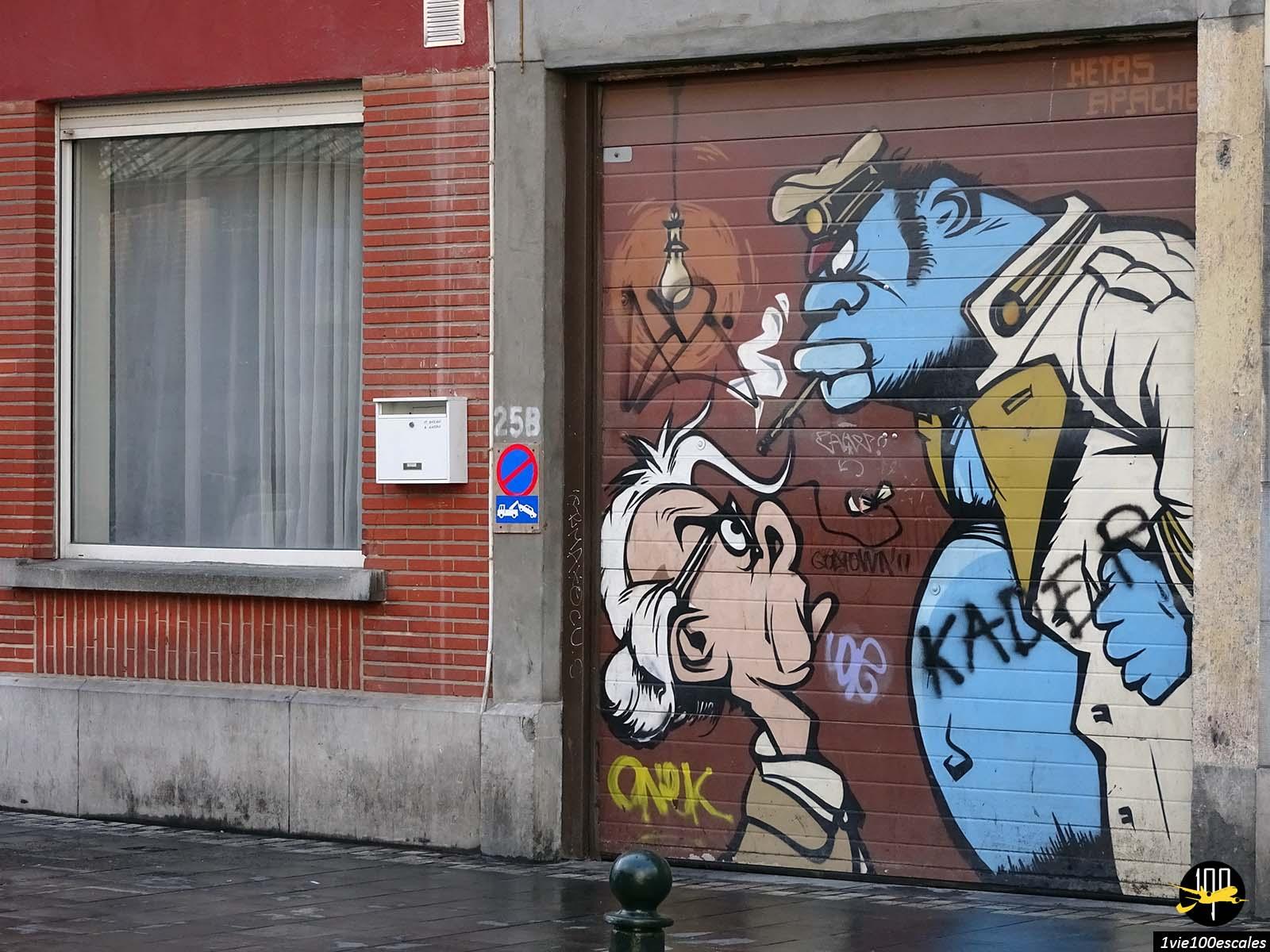 Les dessins de bandes dessinées décorent le centre de Bruxelles