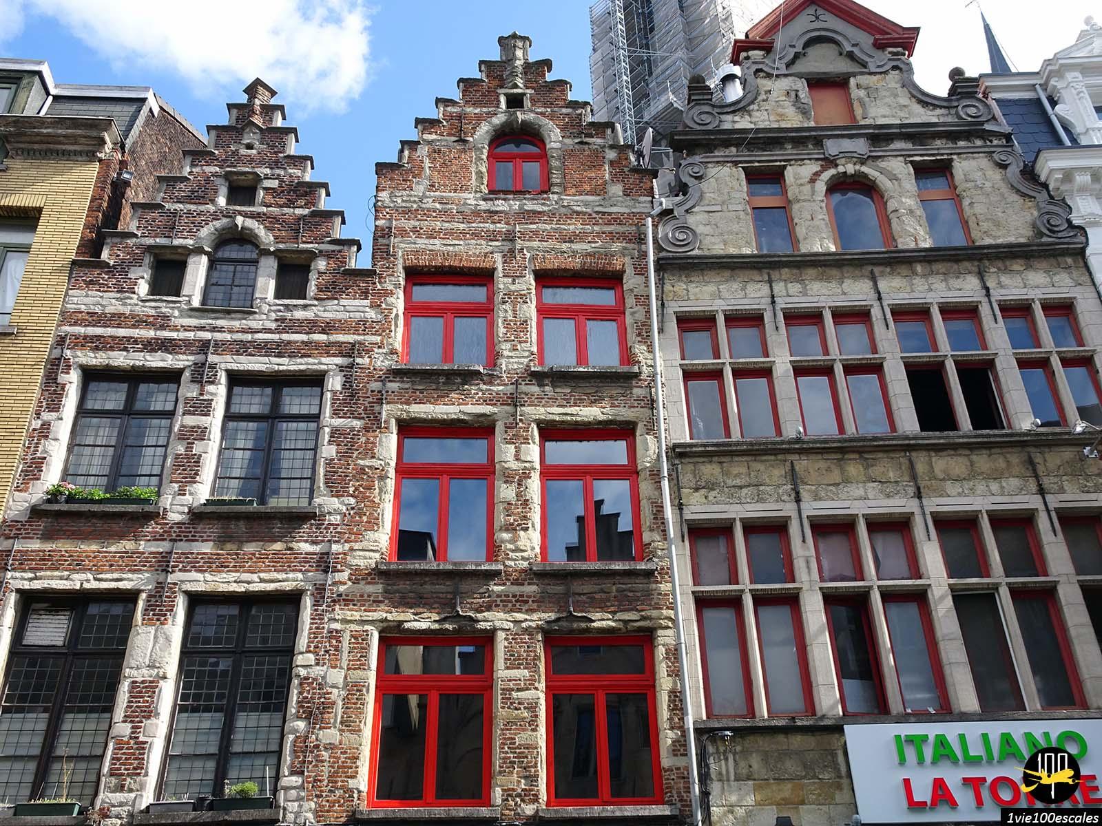 La ville d'Anvers et ses maisons traditionnelles