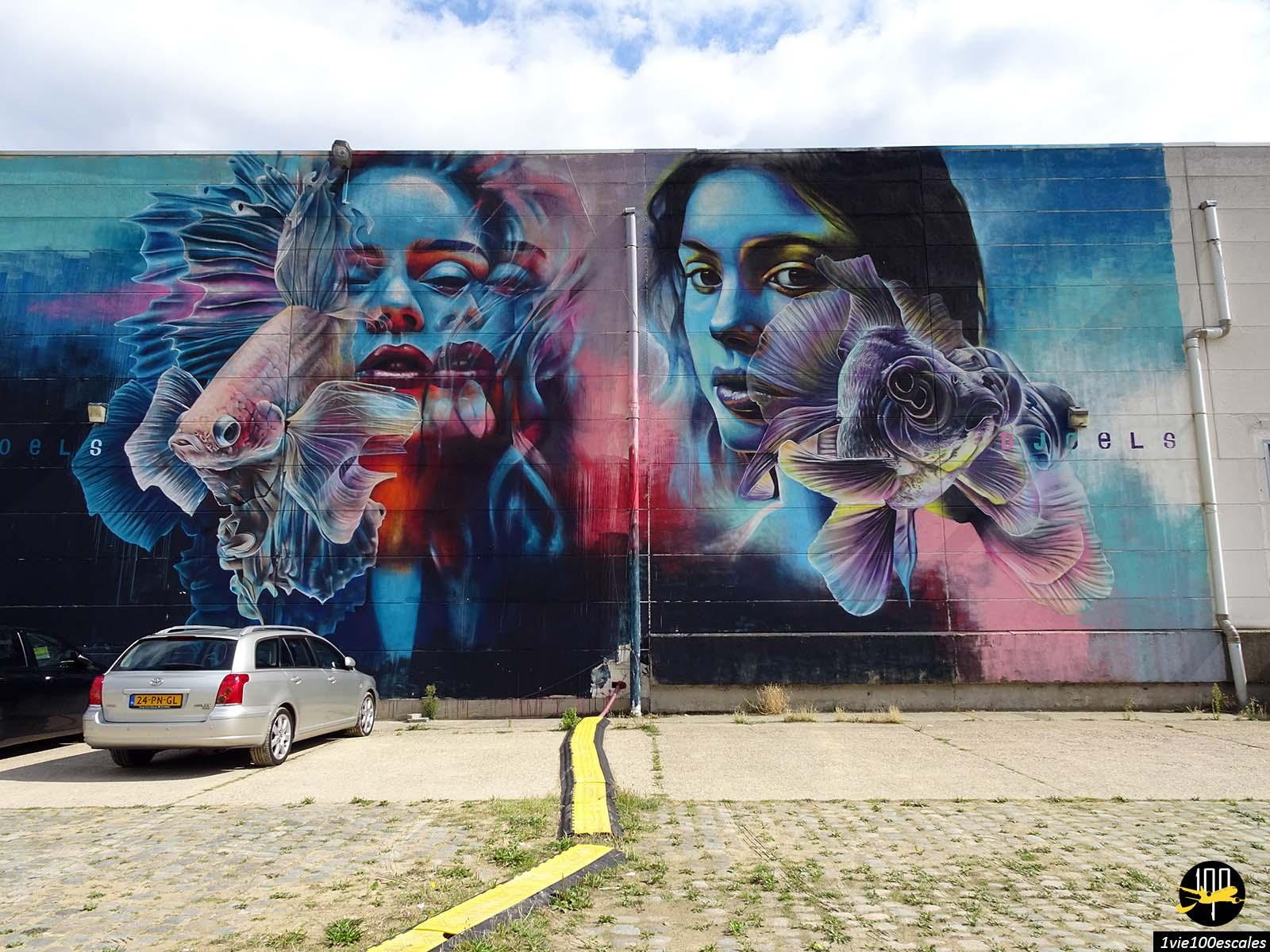 Le street art sur les murs du port d'Anvers