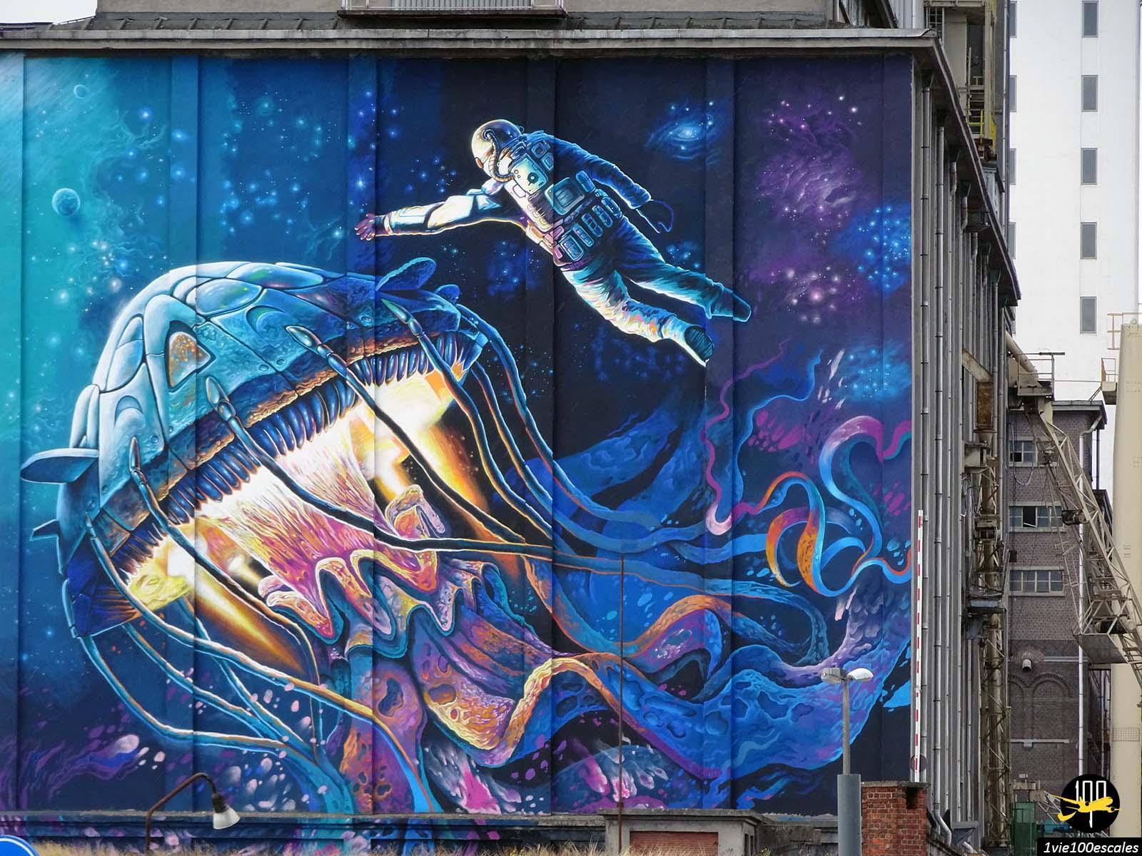 Le street art sur les murs des usines du port d'Anvers
