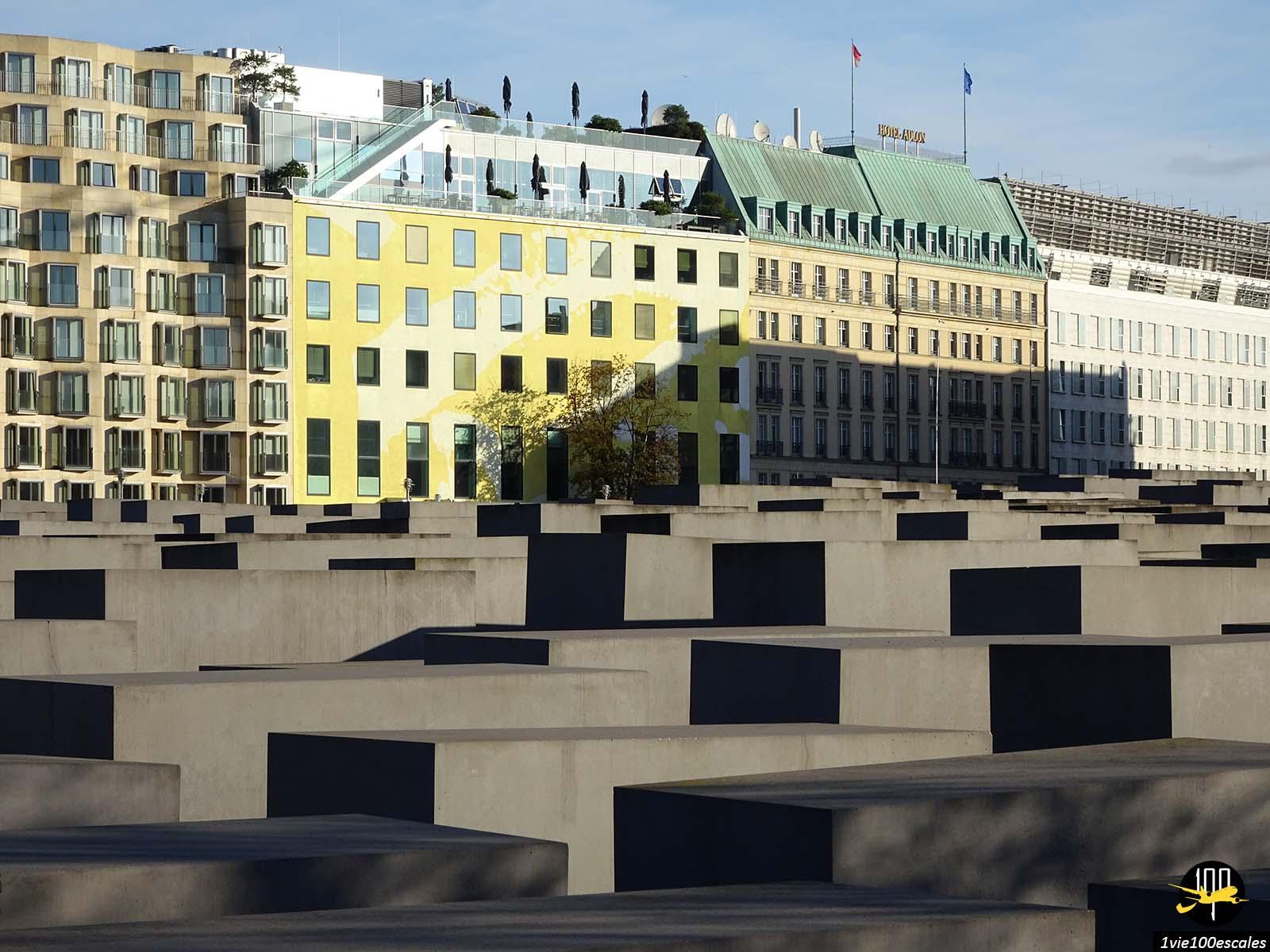 Les stèles du Mémorial aux Juifs assassinés d'Europe de Berlin