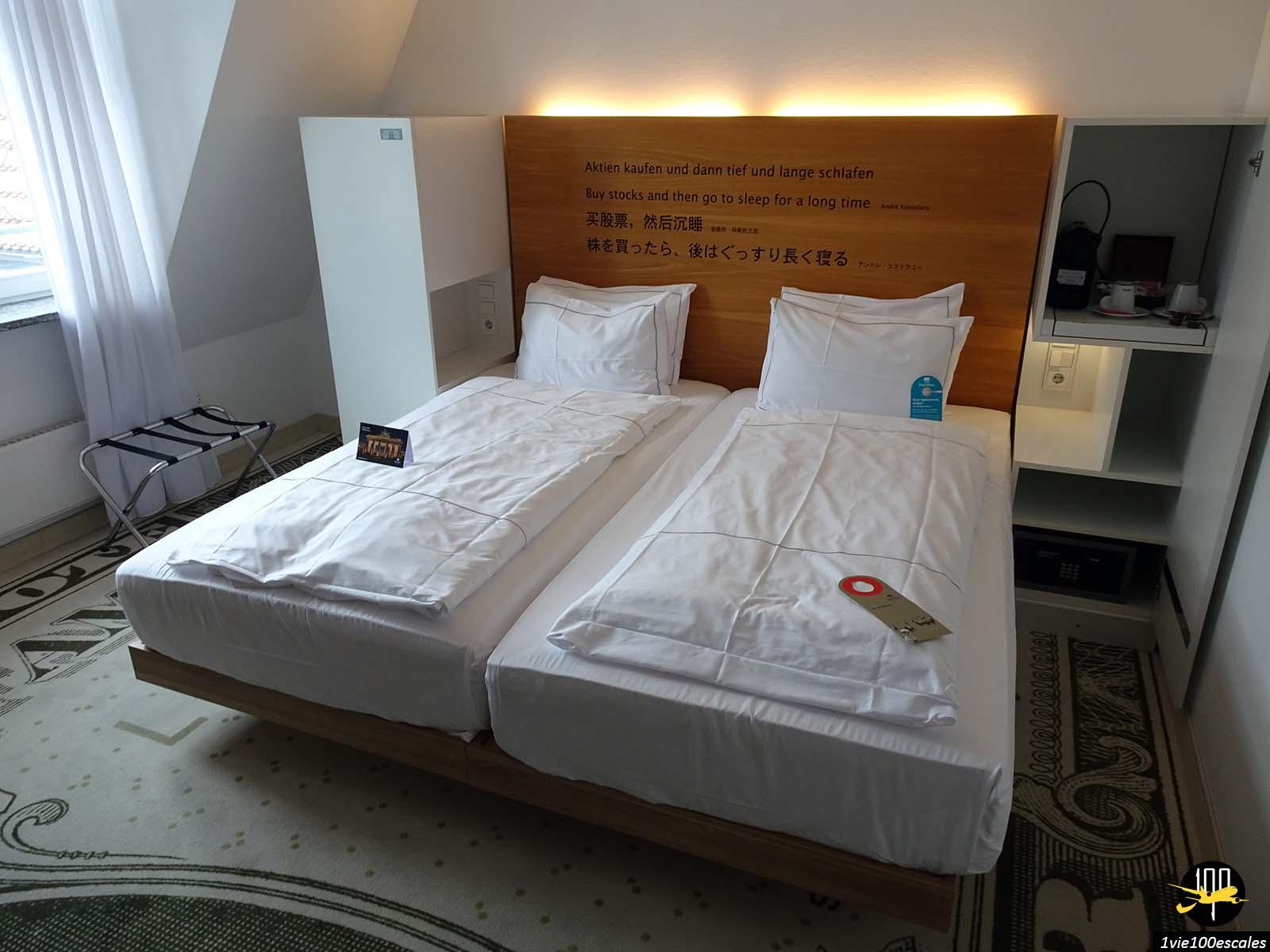 La chambre de l'hotel Park Plaza Wallstreet Berlin Mitte