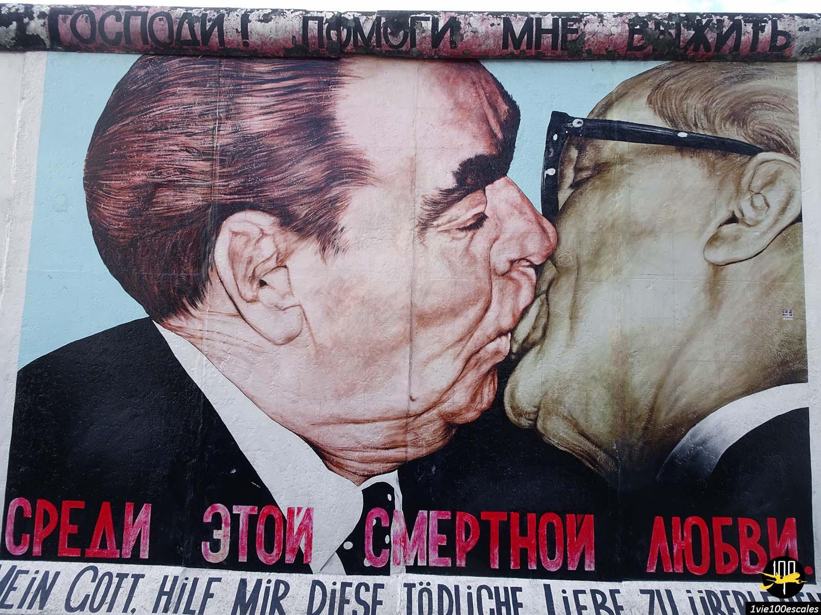 Promenade de long du mur de Berlin avec ses célèbres dessins