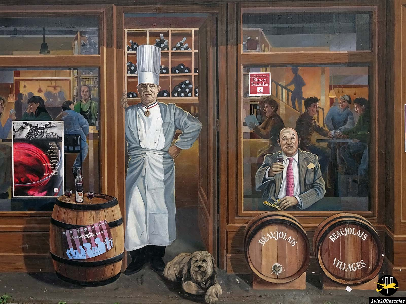 La Fresque des Lyonnais avec le chef Paul Bocuse