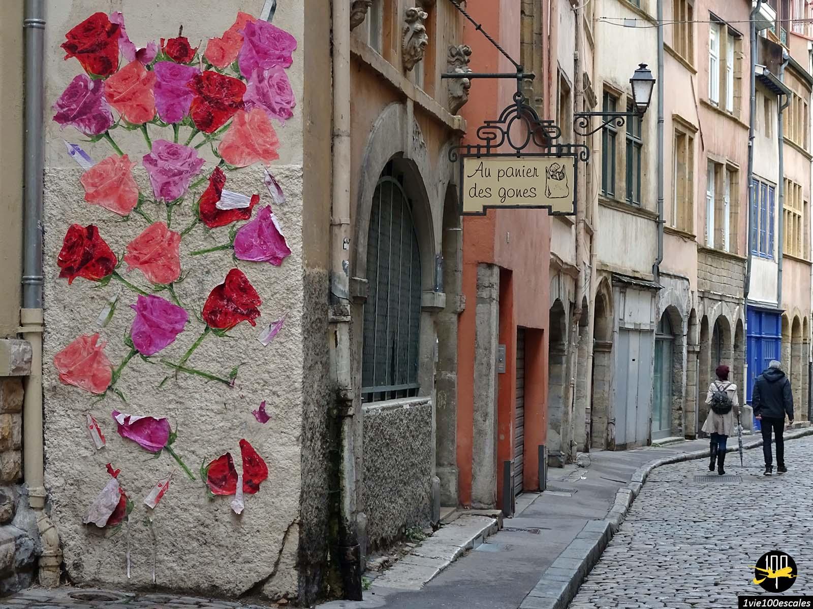 Le vieux Lyon avec son street art et ses ruelles typiques