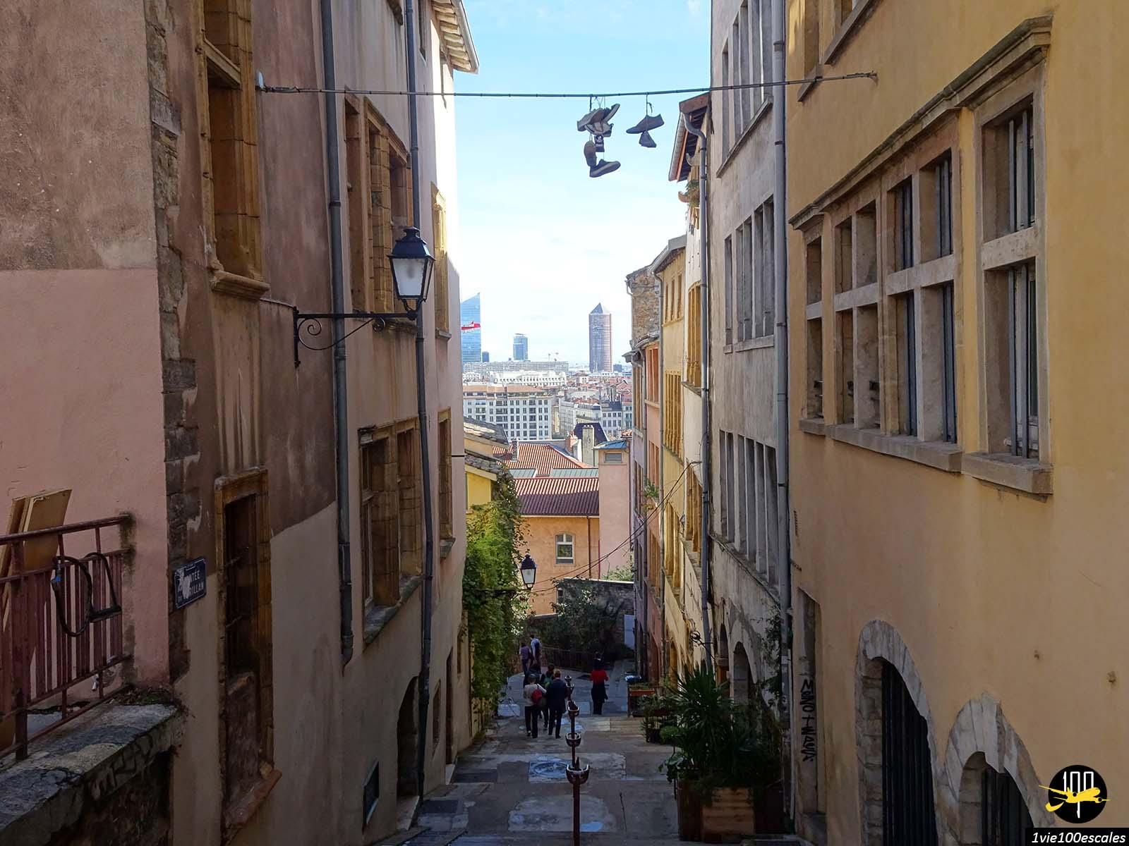 Panorama sur toute la ville depuis la colline du vieux lyon