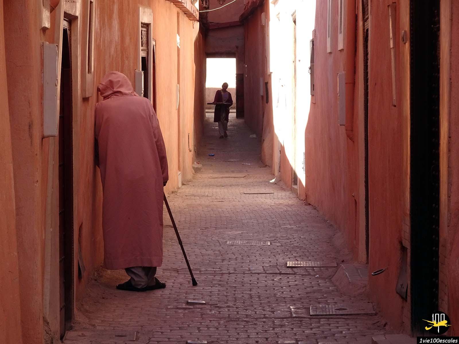 Les ruelles de Mellah le quartier juif de Marrakech