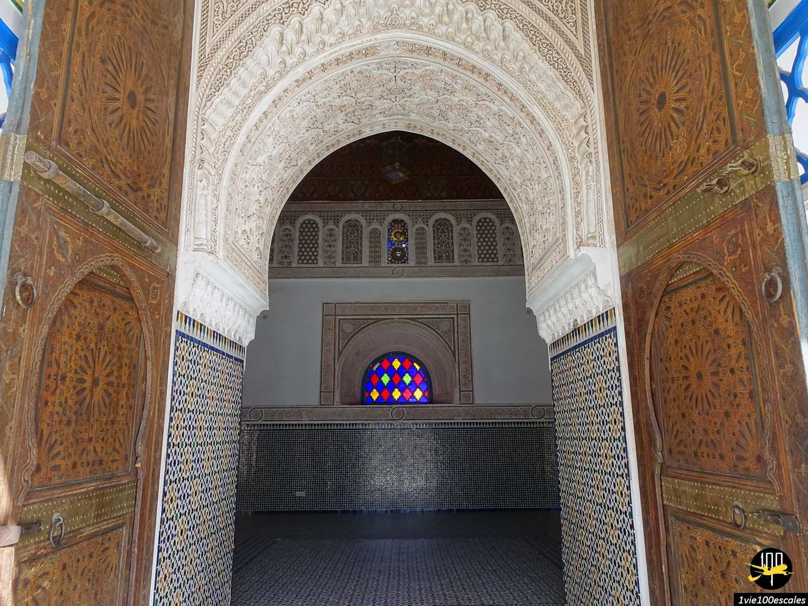 La magnifique architecture traditionnelle du Palais Bahia de Marrakech