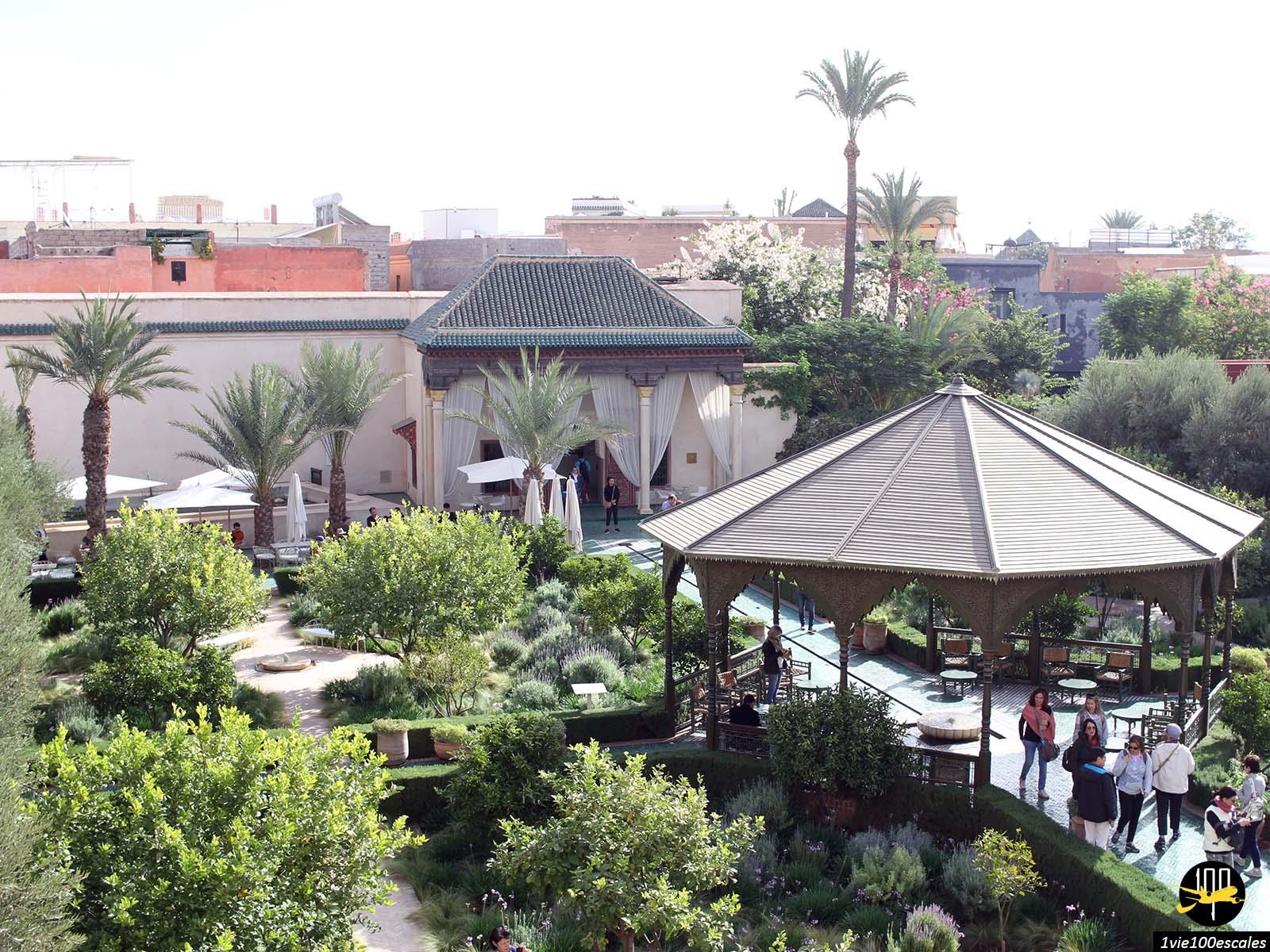 Vue panoramique sur le jardin secret de Marrakech
