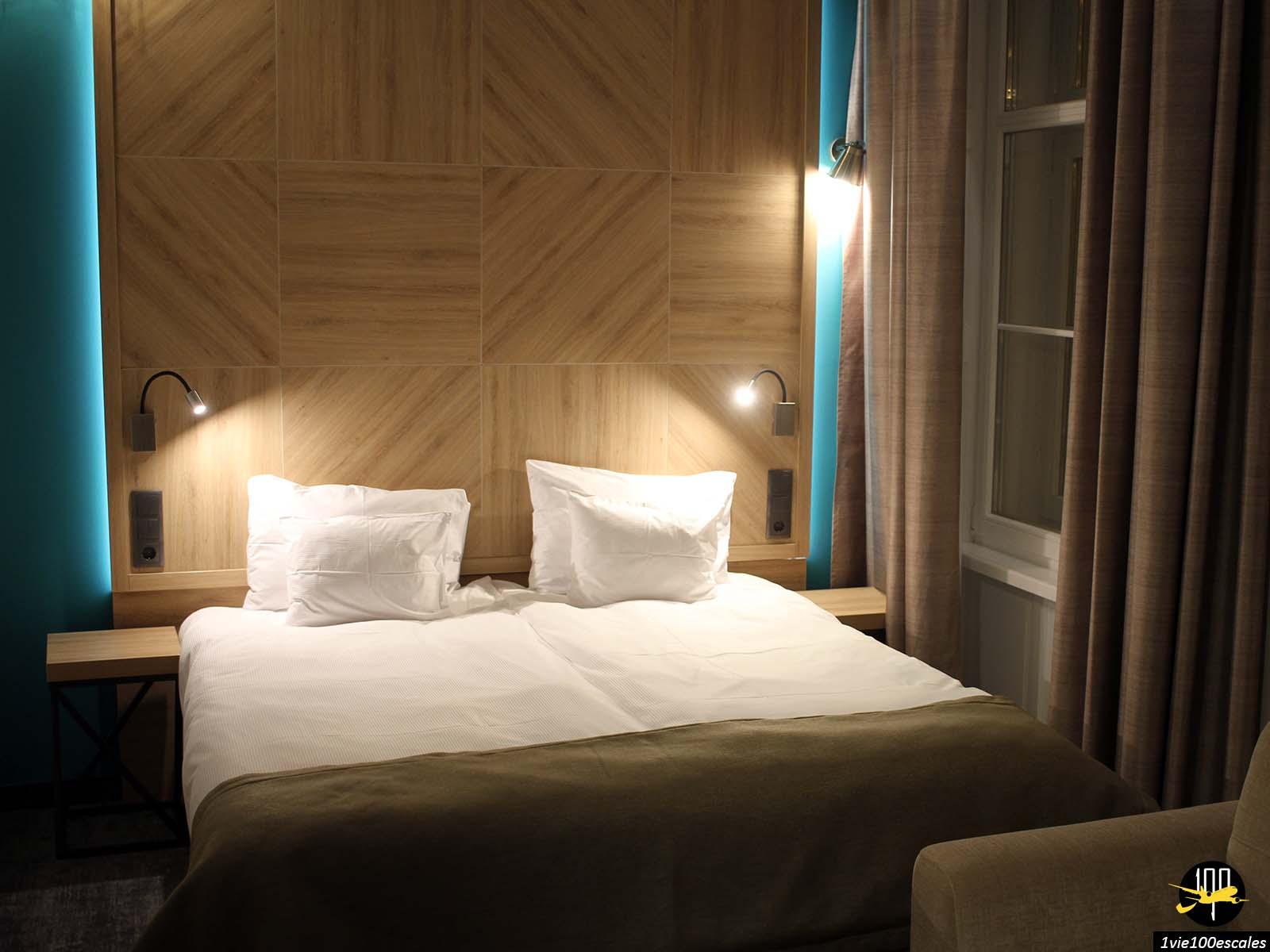La chambre du T62 Hotel de Budapest en Hongrie