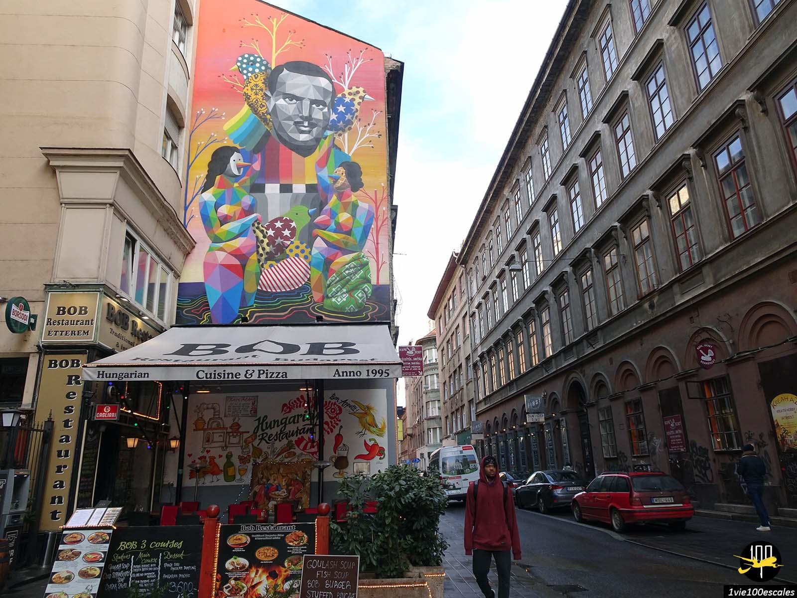 Le street art dans le centre ville de Budapest