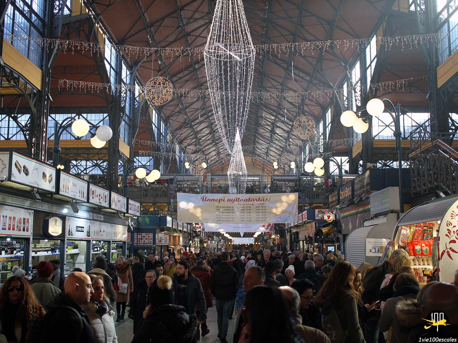 Les Halles centrales de Budapest avec son marché couvert