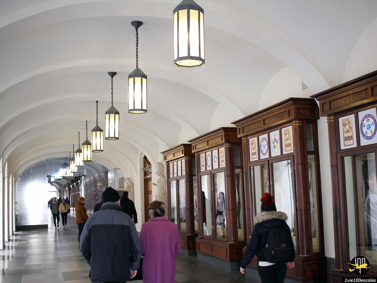 Les vieux passages couverts dans le centre ville de Budapest