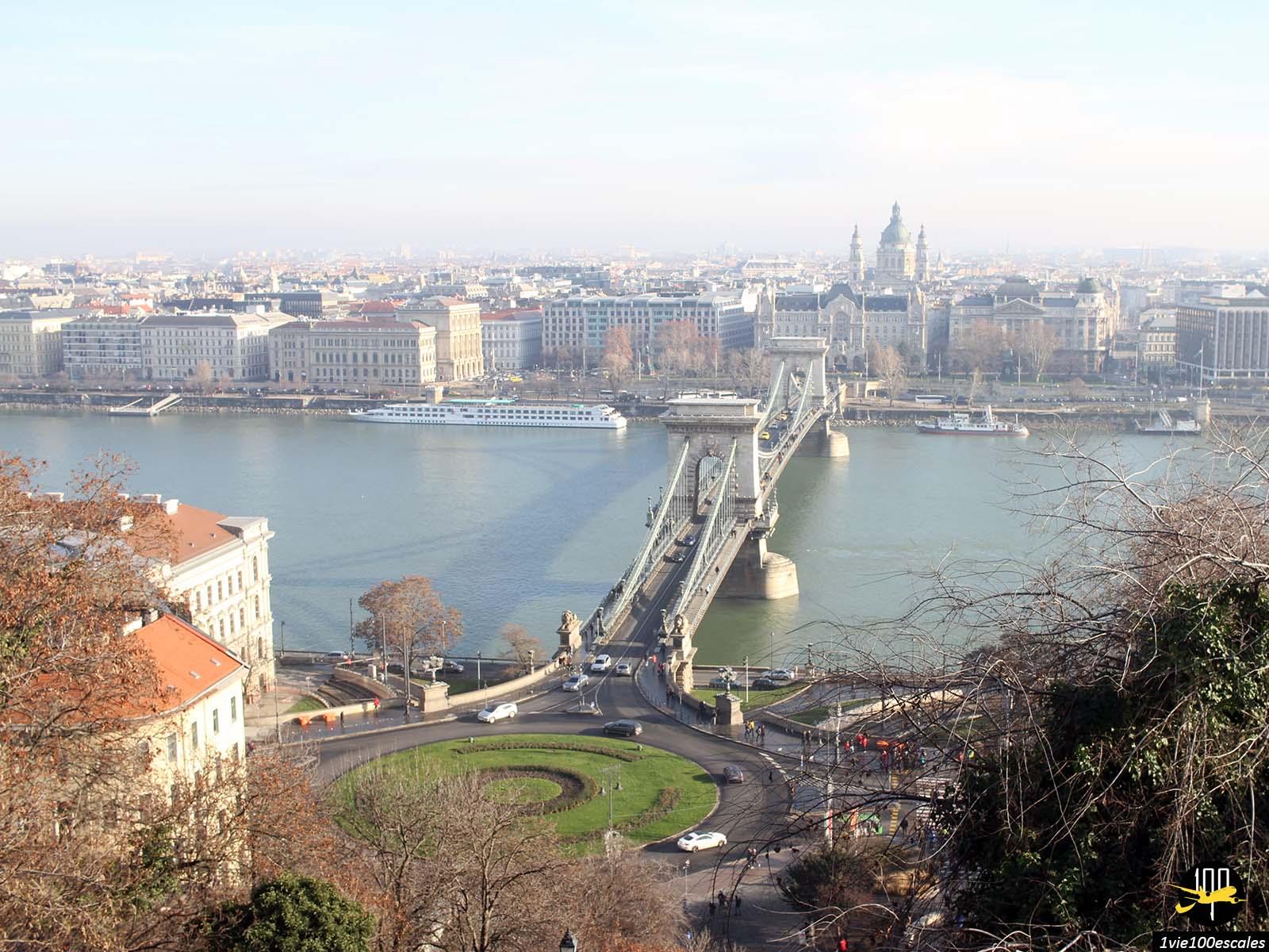 Panorama sur la ville de Budapest depuis la colline de Buda