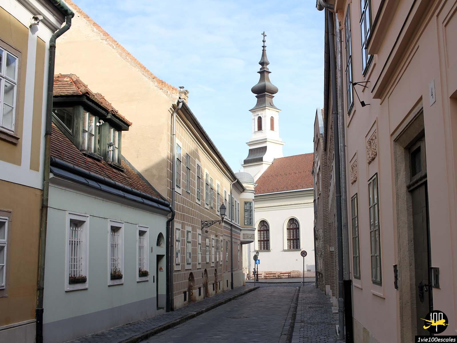 L'architecture typique du quartier de Buda à Budapest