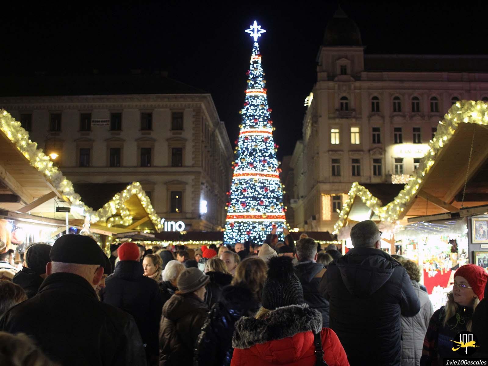 Marché de noel de Budapest en décembre