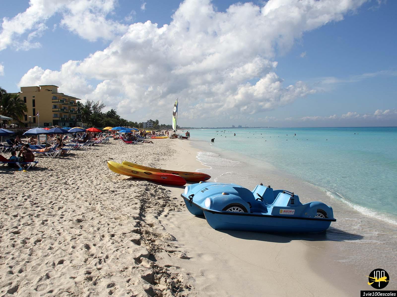Un petit hotel resort sur la plage de Varadero à Cuba