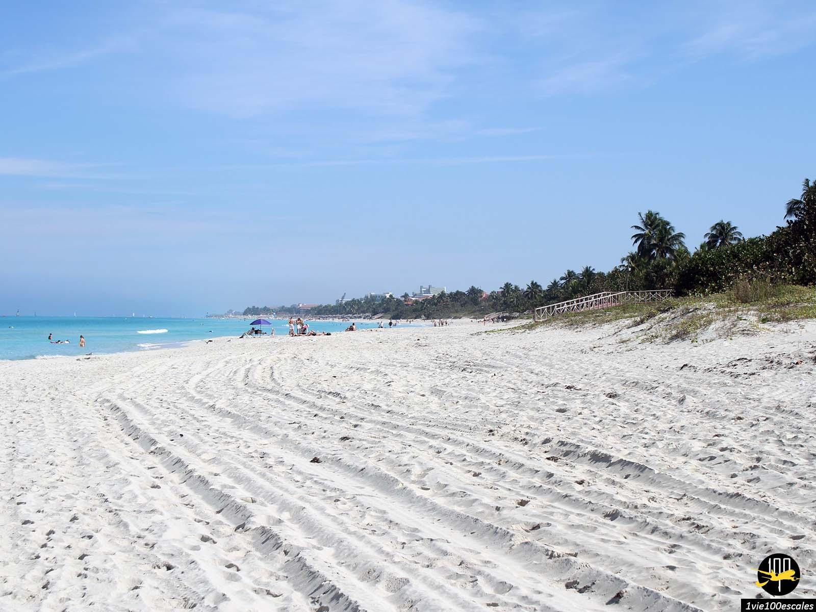 Le sable de la plage de Varadero à Cuba