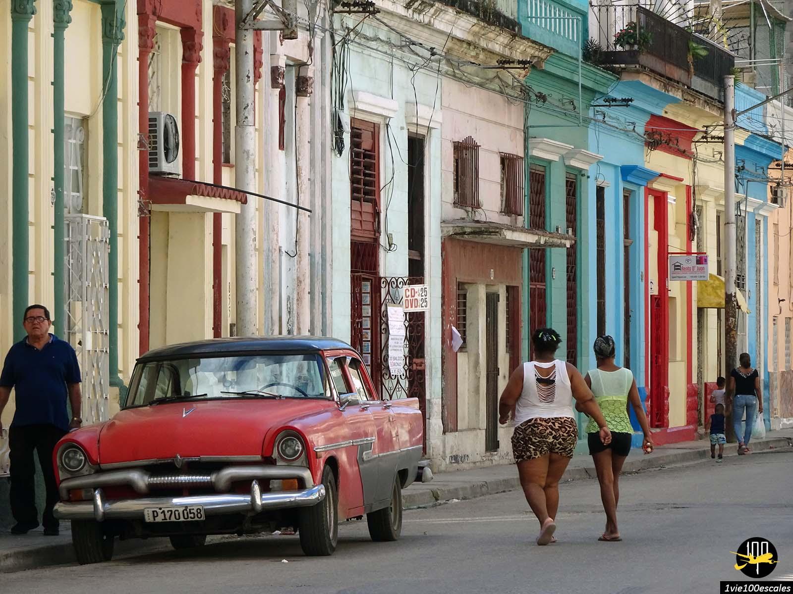 Une scène de vie ordinaire de La Havane à Cuba