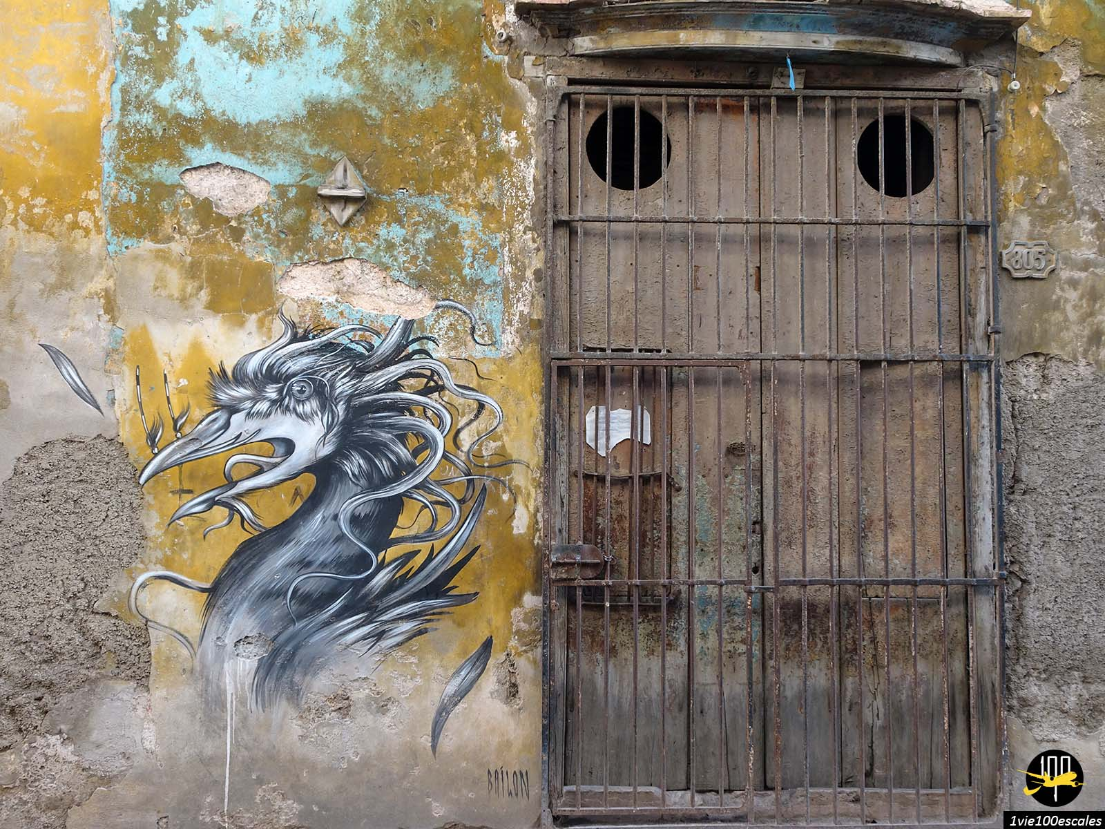 Les beaux dessins sur les murs de la vieille ville de La Havane