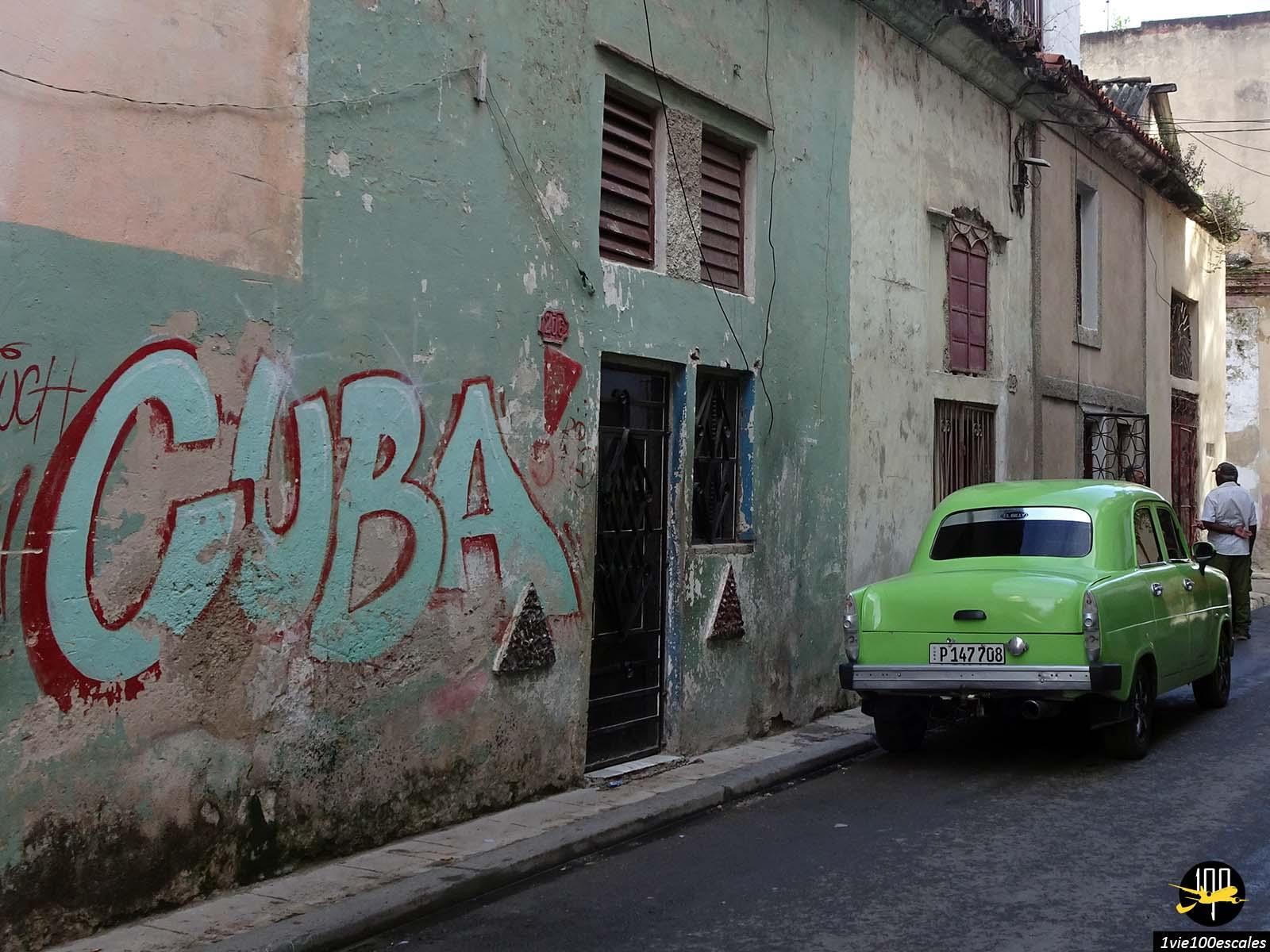 Les tags sont nombreux dans la vieille ville de La Havane à Cuba
